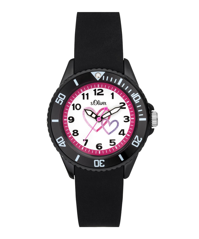 s.Oliver bracelet de montre silicone noir SO-3633-PQ