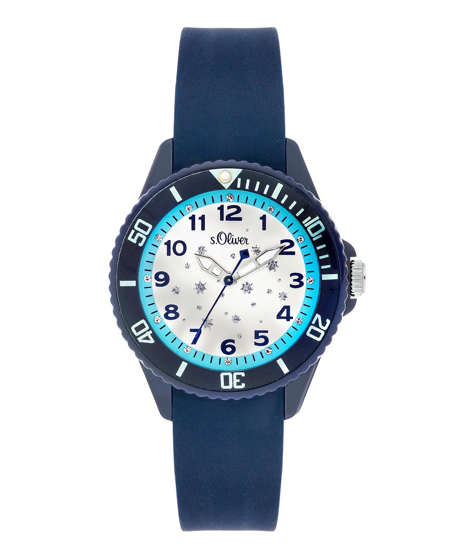 s.Oliver bracelet de montre silicone bleu SO-3634-PQ