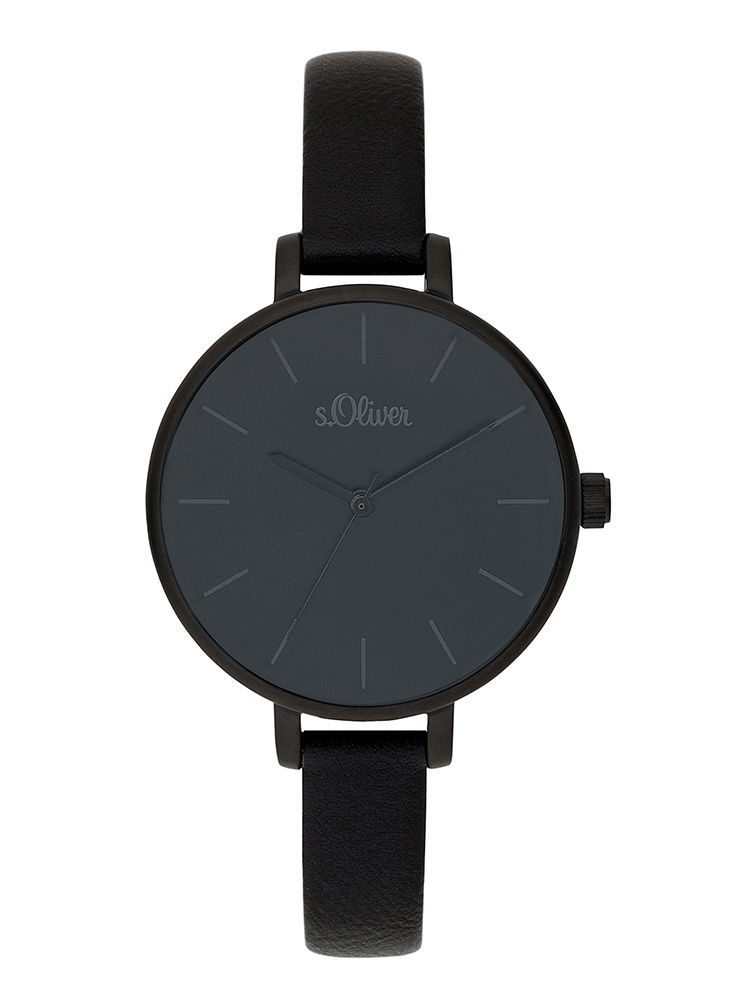 s.Oliver leatherette watch strap black SO-3654-LQ