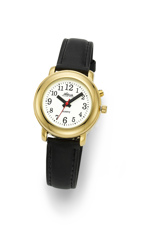 Atlanta 8916/9 gelb sprechende Armbanduhr