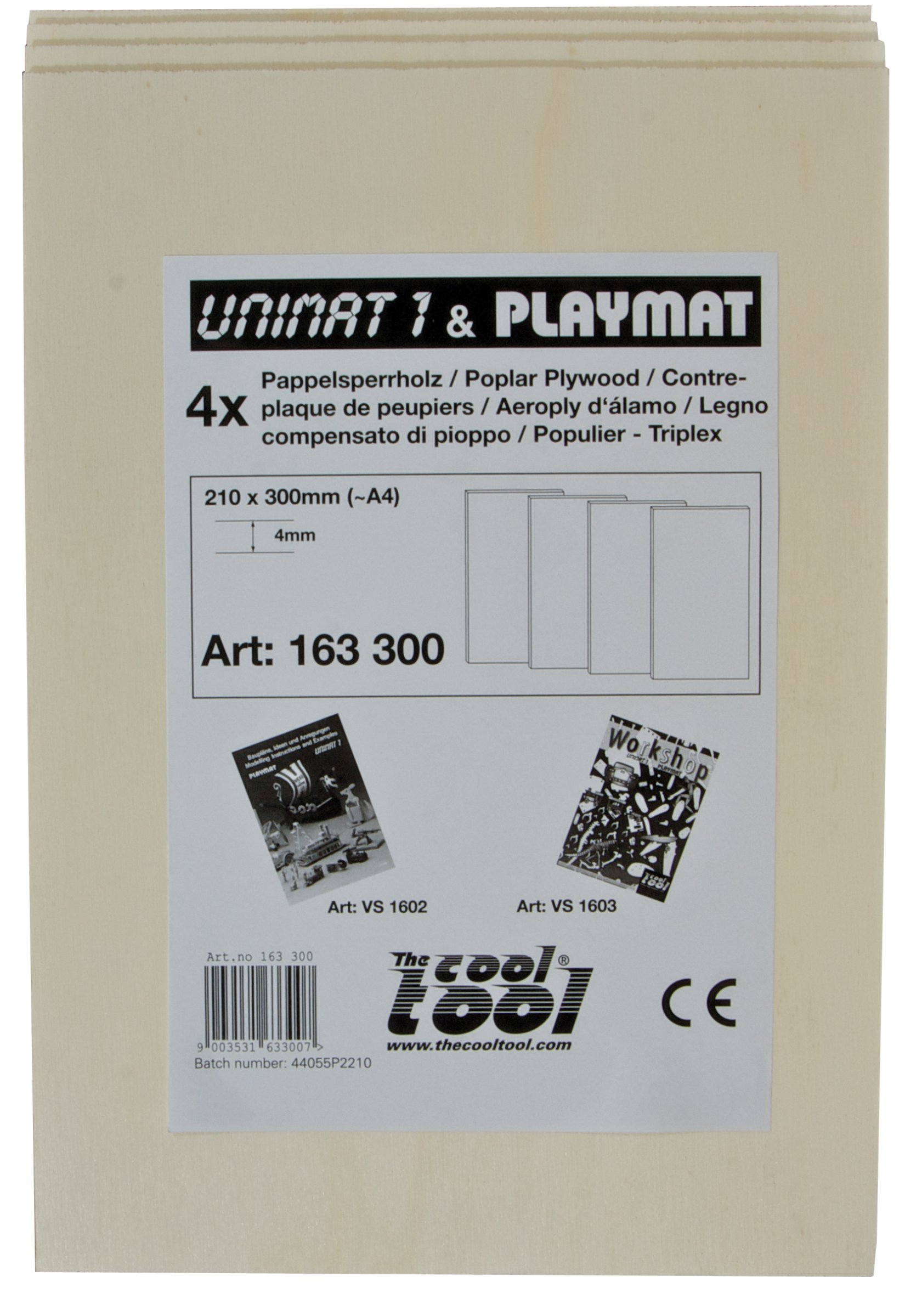 PLAYMAT Contreplaqué de peuplier 4mm, 4 pcs.