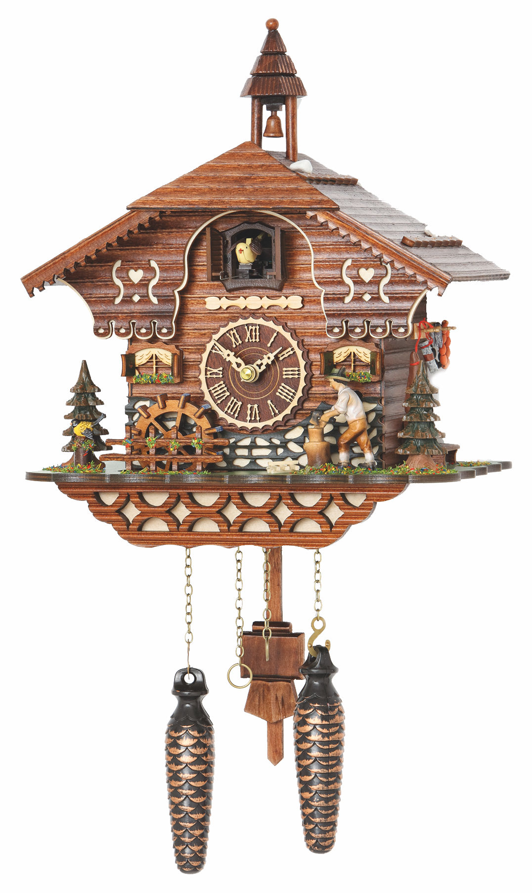 Cuckoo Clock Mönchweiler with 12 melodies