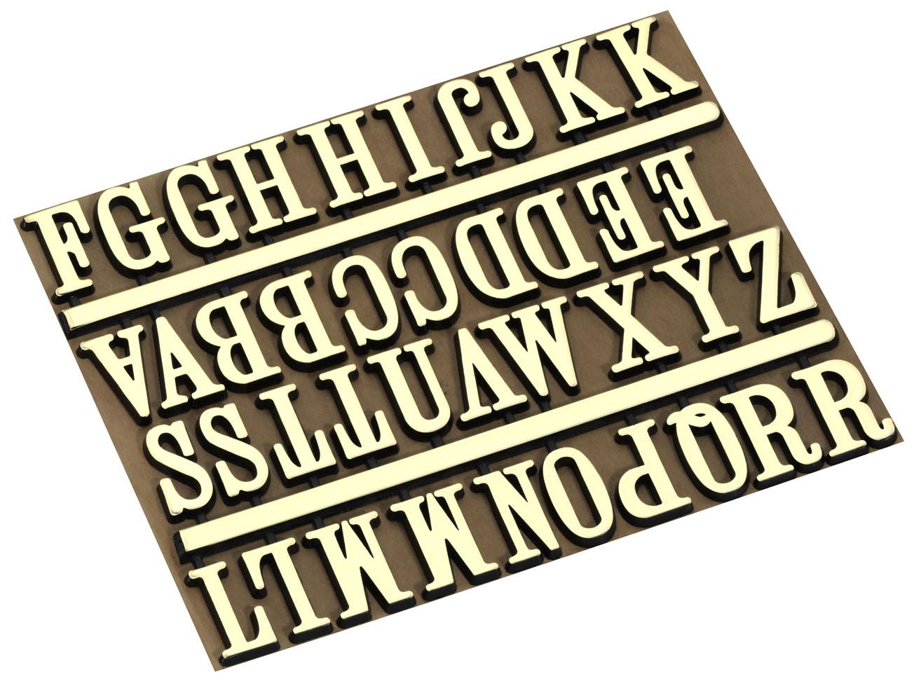Buchstabensatz 18mm A-Z Alphabet gelb