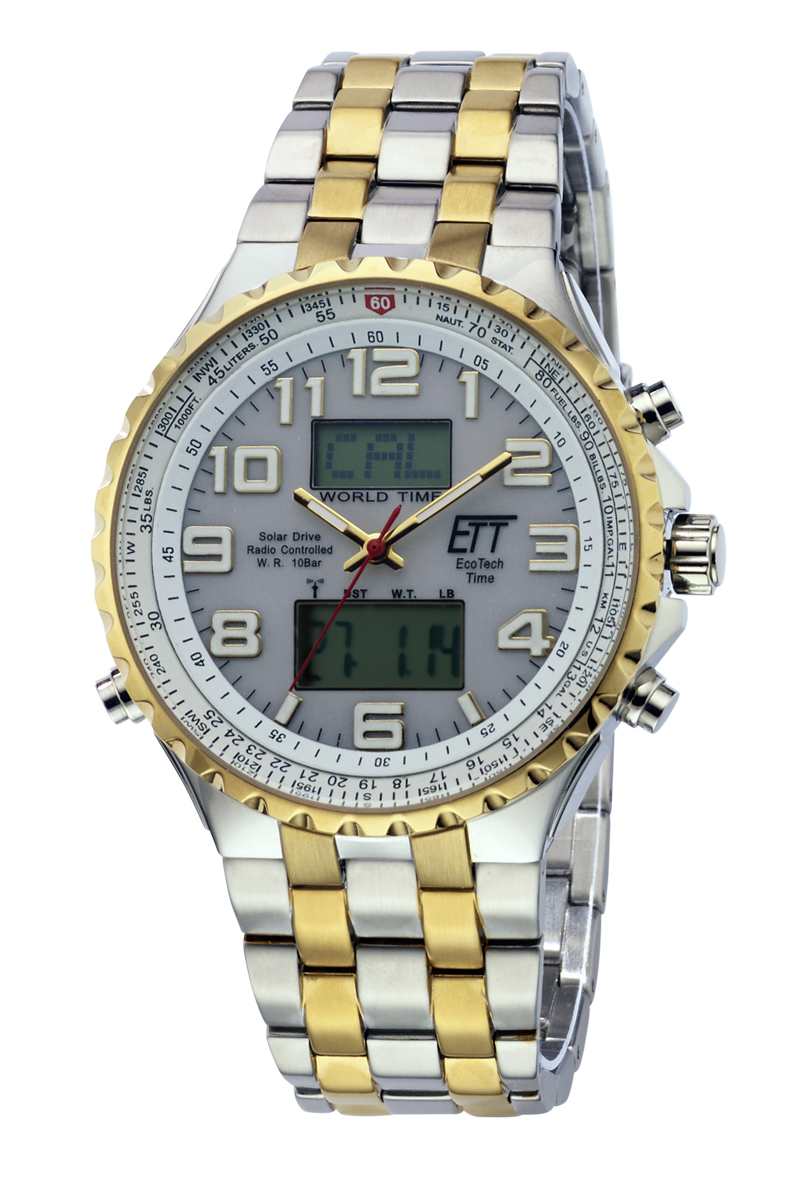 Eco Tech Time Solar Drive Radio Controlled Professional Gents Watch