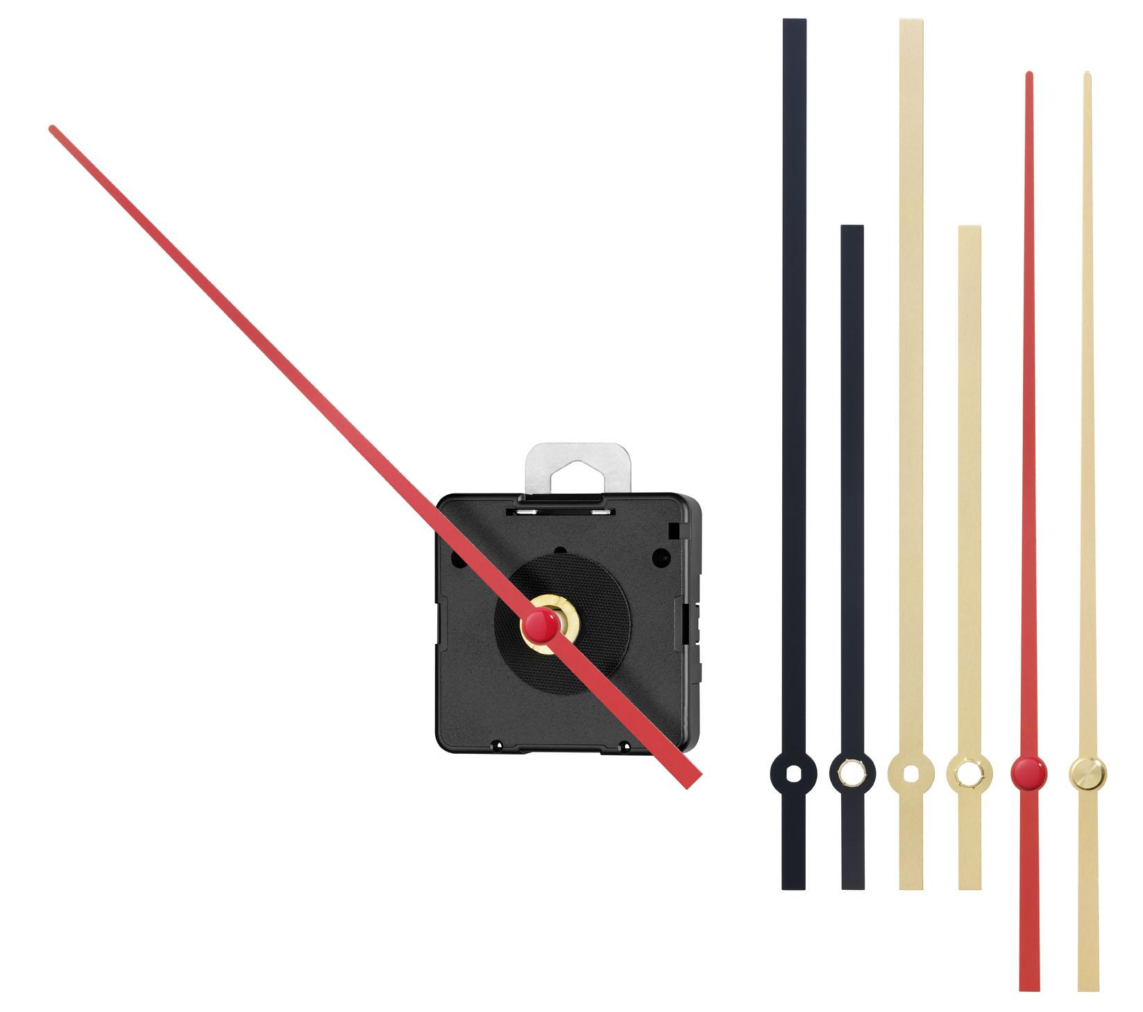 Quartz movement kit Junghans NJ 838 inclusive hands-kit, extra strong, hands length 26mm