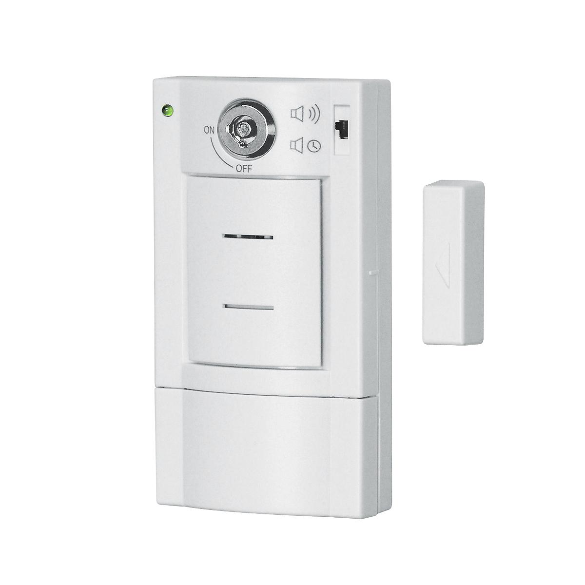 Door alarm with key switch