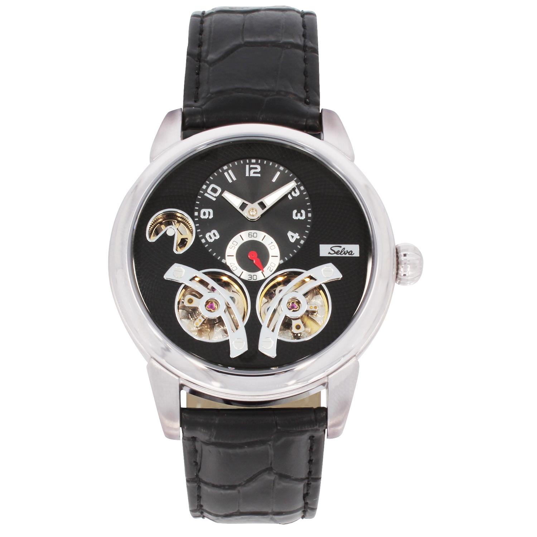 SELVA Herren-Armbanduhr »Garcia« - versilbert-schwarz