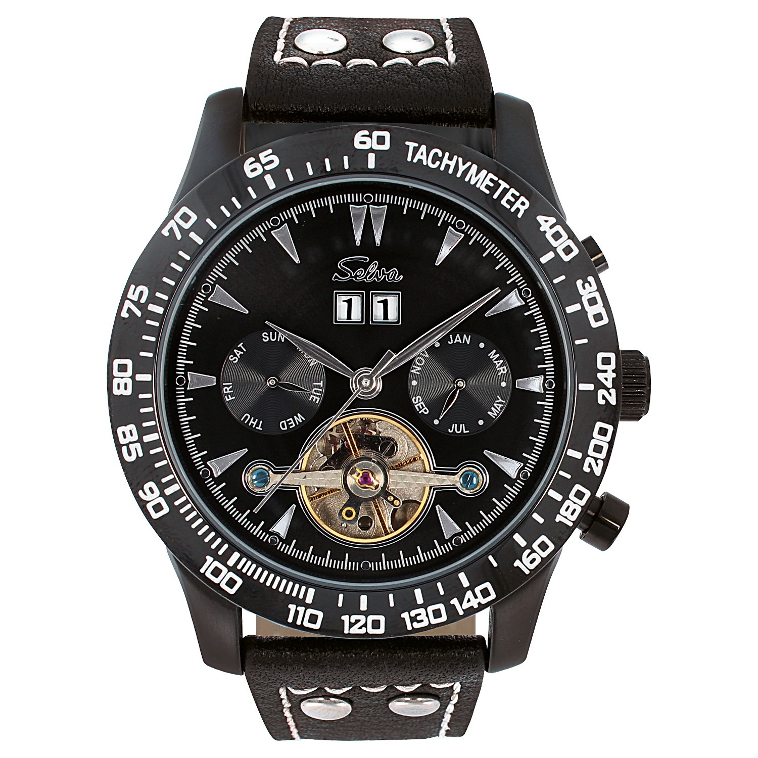SELVA Men's Watch »Hector« - Tachymeter - black