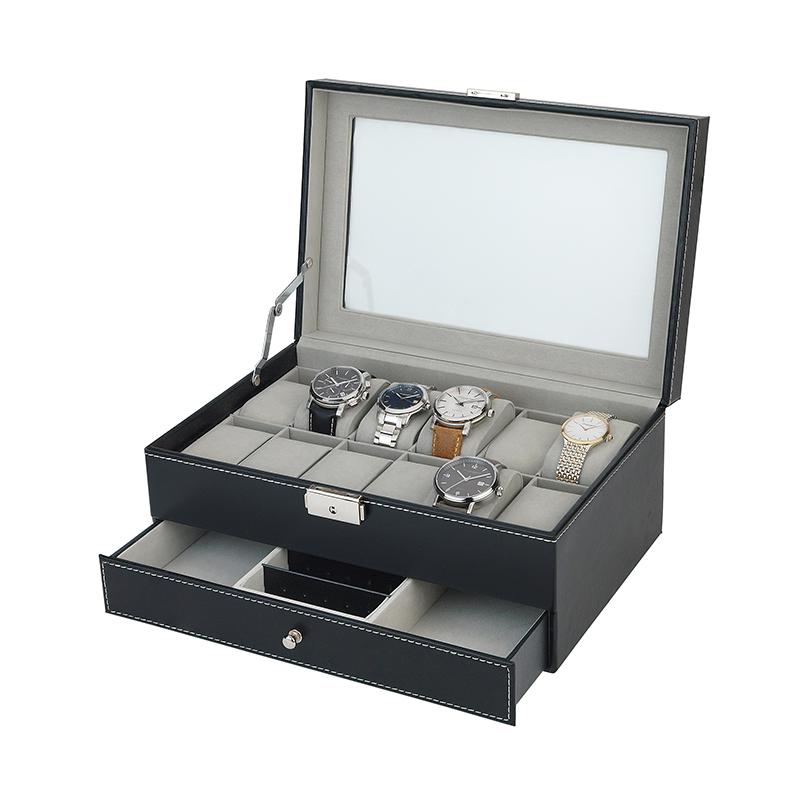 Cassette pour la bijouterie et 12 montres-bracelets