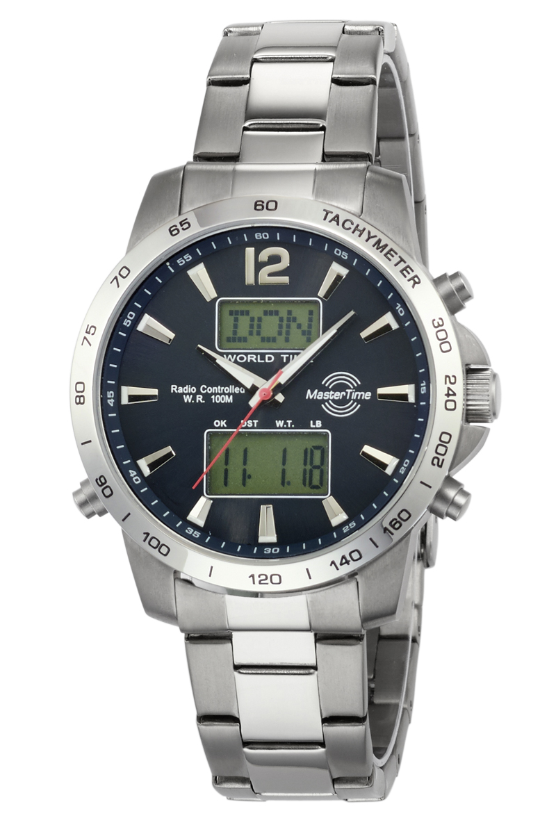 MasterTime men's watch radio controlled Worldtimer