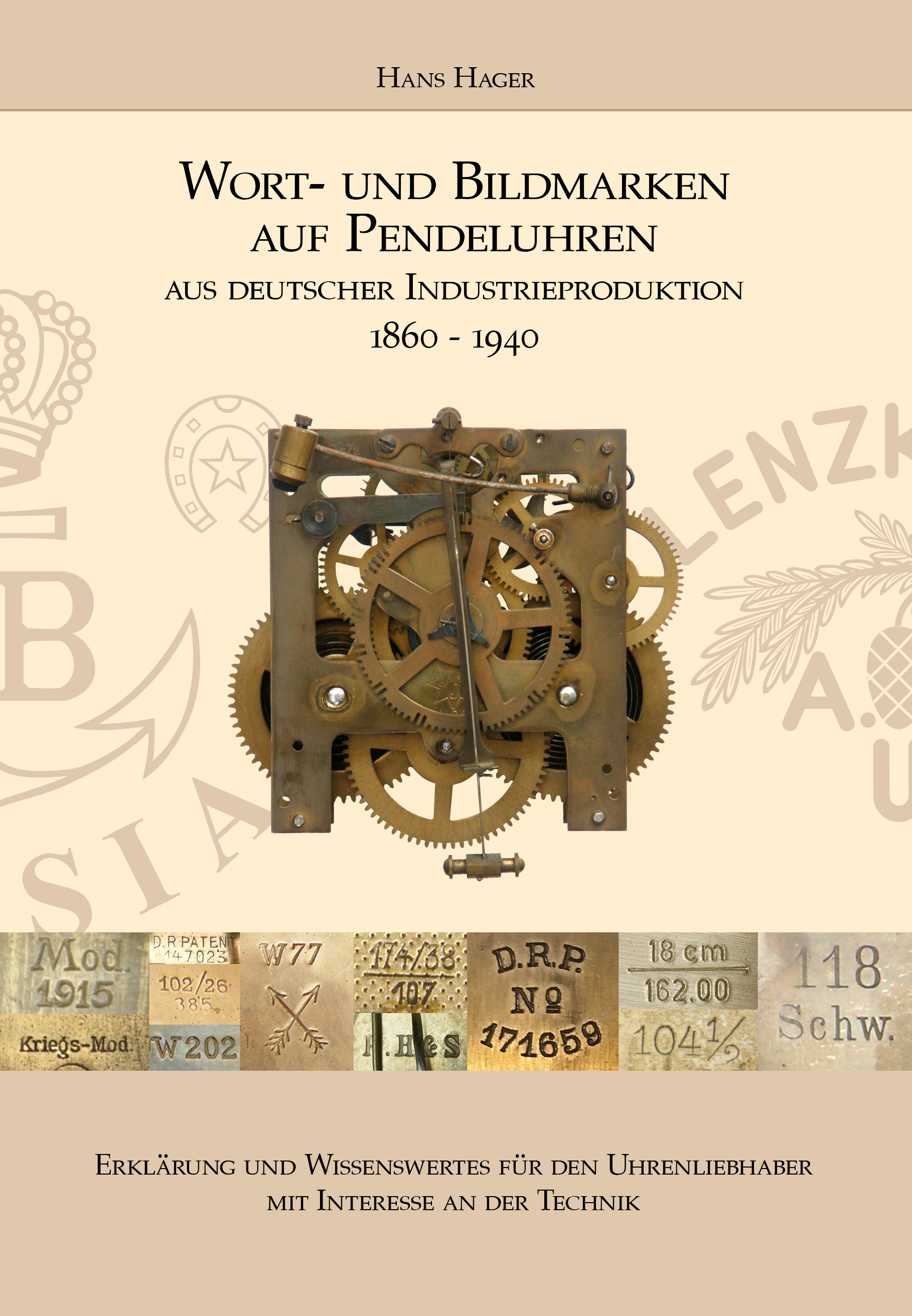 Book word and figurative marks on pendulum clocks (German edition)