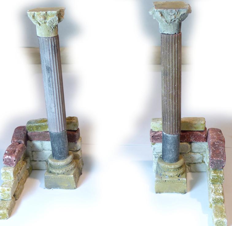Krippen-Bausatz Genezareth Säulen