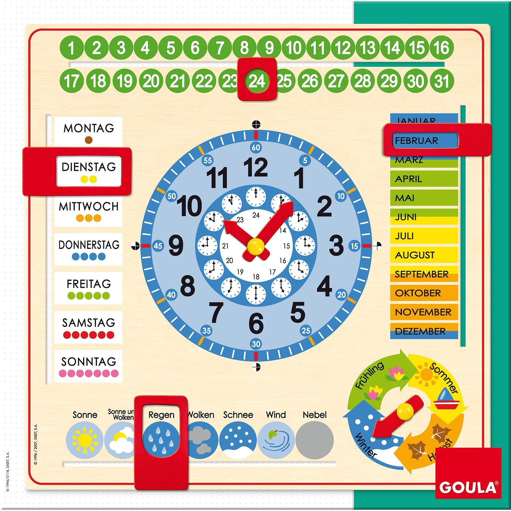 Kalenderuhr Großformat quadratisch