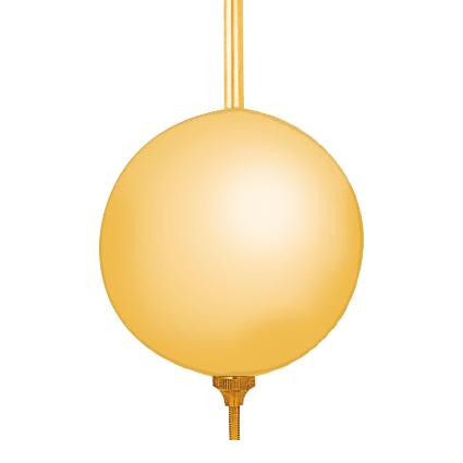 Mechanical pendulum simple brass yellow matted l: 400mm Ø: 70mm