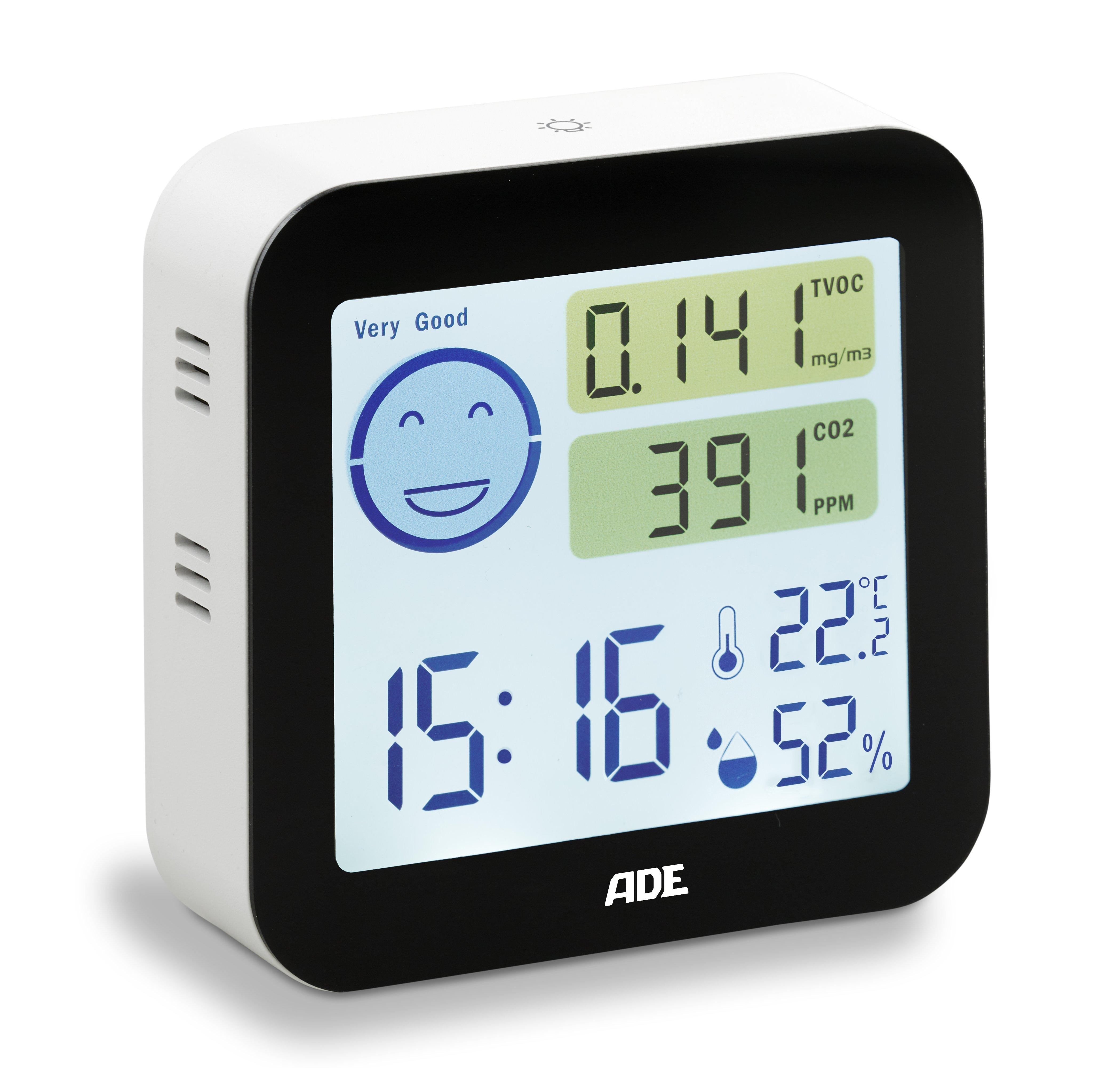 Luftqualitätsmonitor mit Thermo-Hygrometer