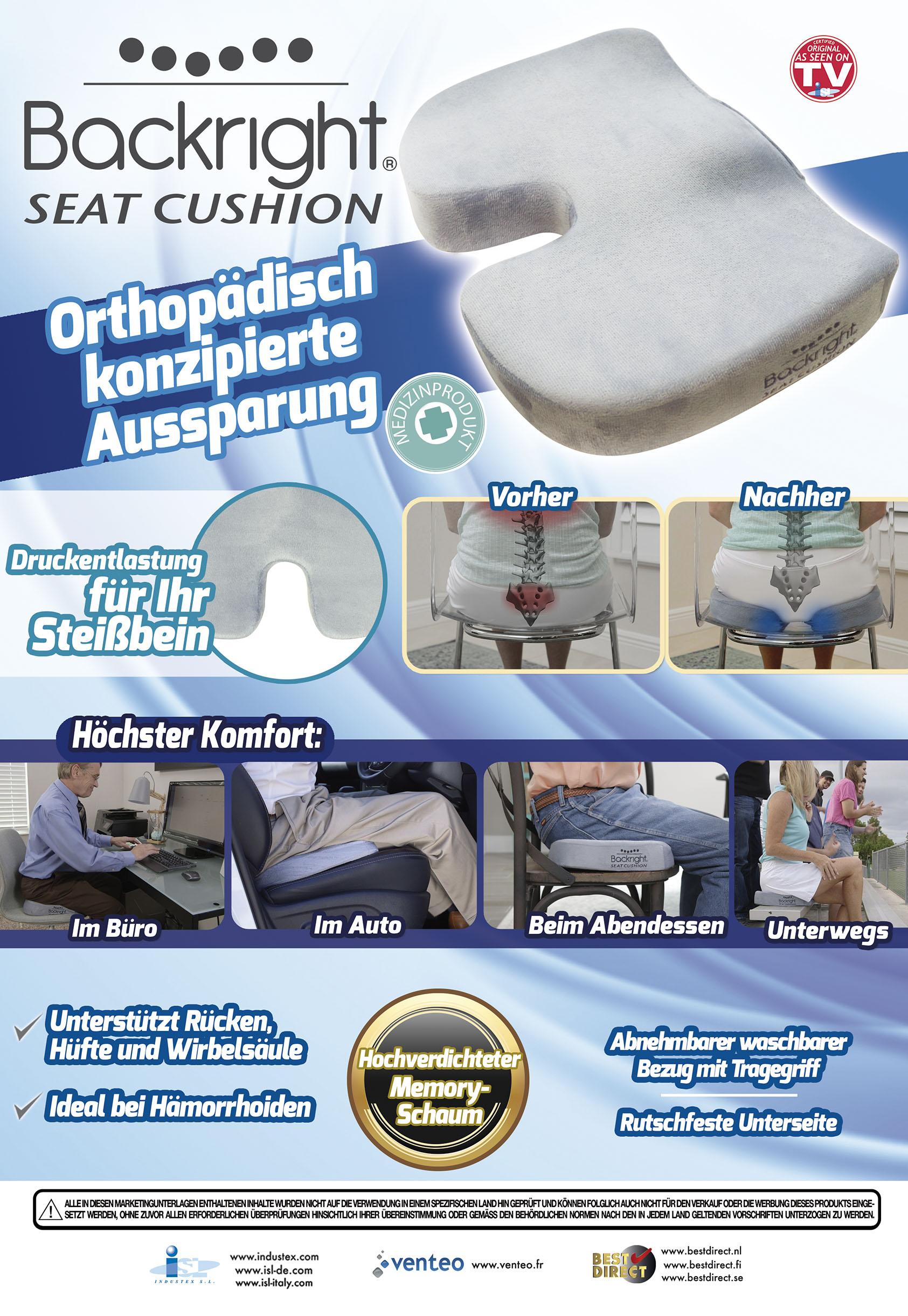 Original Backright Seat Cushion - orthopädisches Sitzkissen