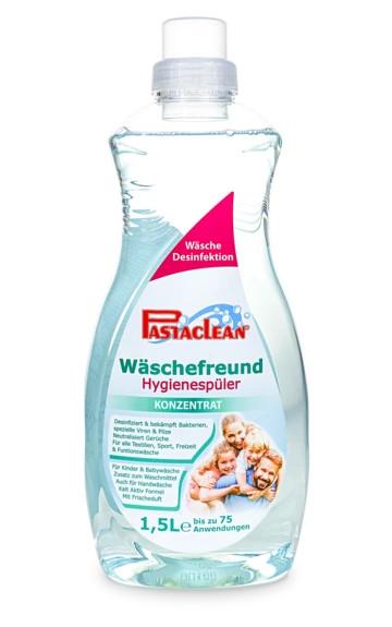 Pastaclean Hygienespüler - verhindert die Wiederansteckung durch Keime und Bakterien auch bei niedrigen Temperaturen