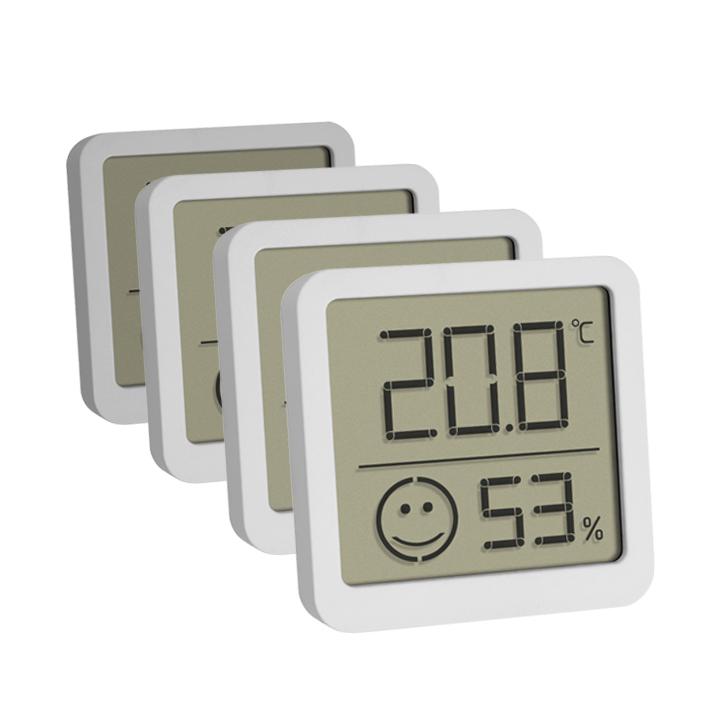 Digitales Thermo-Hygrometer, 4er Set