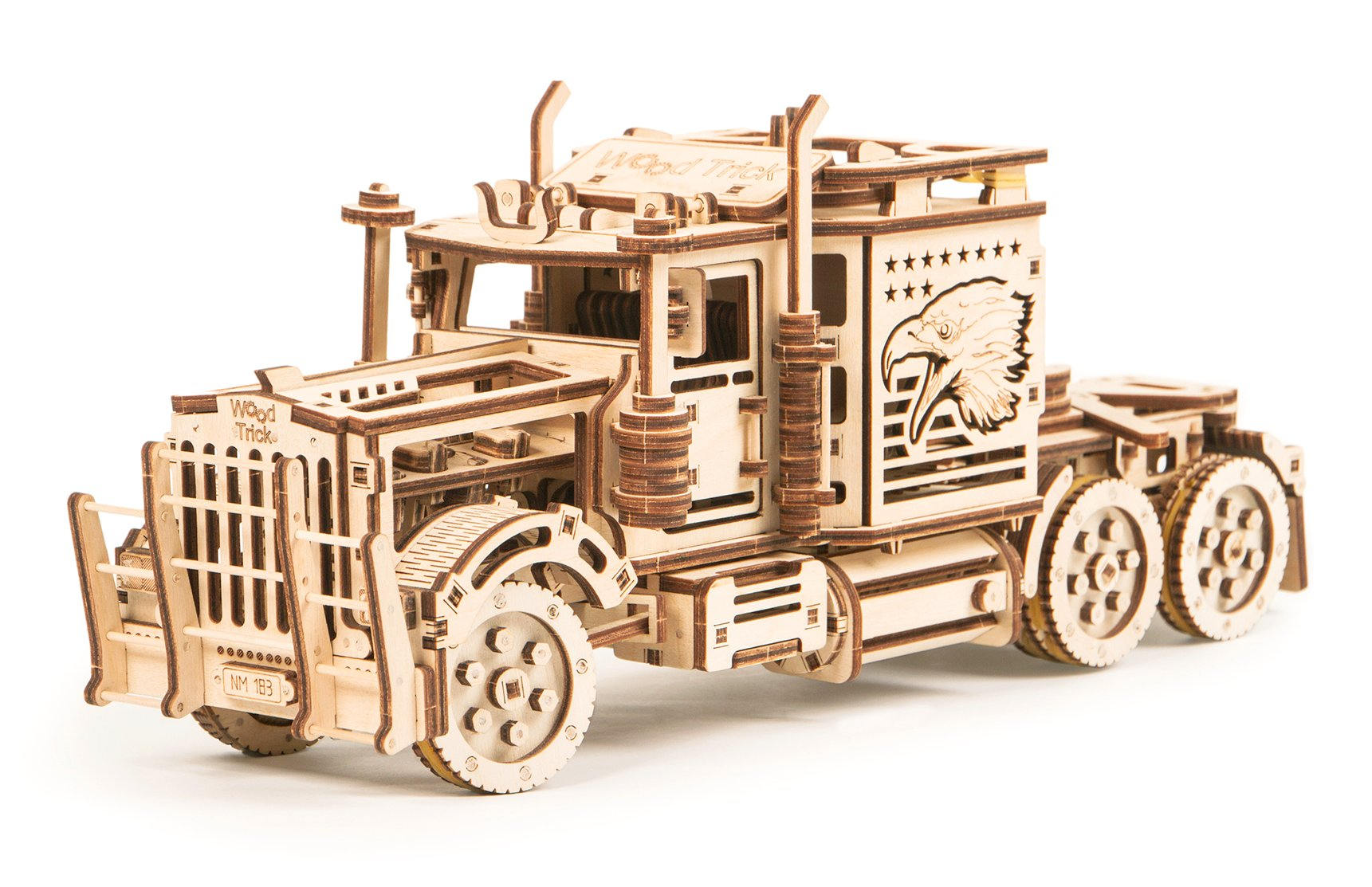 WOOD TRICK Big Rig Truck (LKW-Zugmaschine), 485 Bauteile