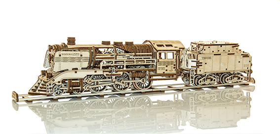 WOODEN CITY Express Train & Tender & Rails, 558 Bauteile