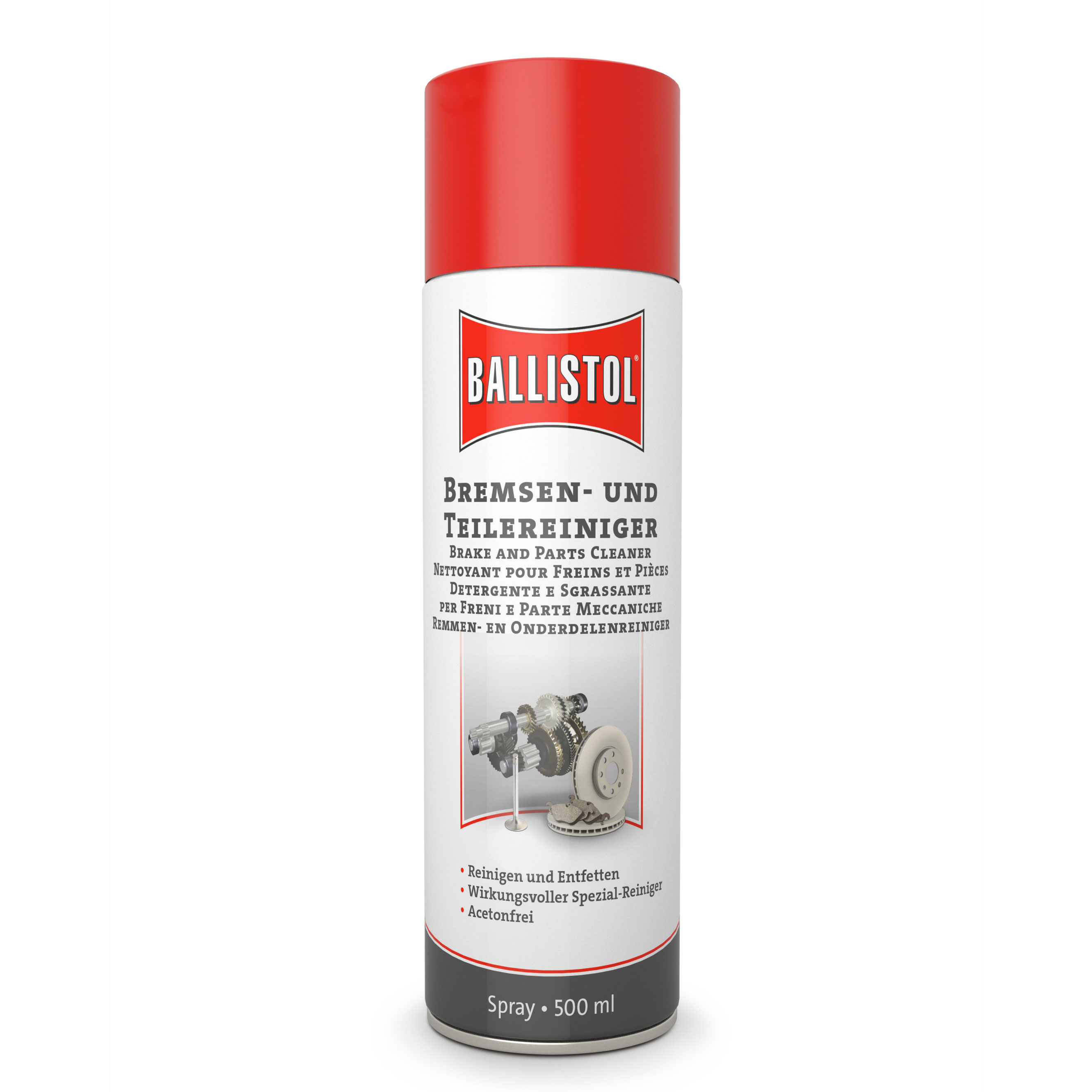 BALLISTOL Bremsen- und Teilereiniger, 500ml - entfernt Öl, Fett, Klebstoffreste u.v.m.