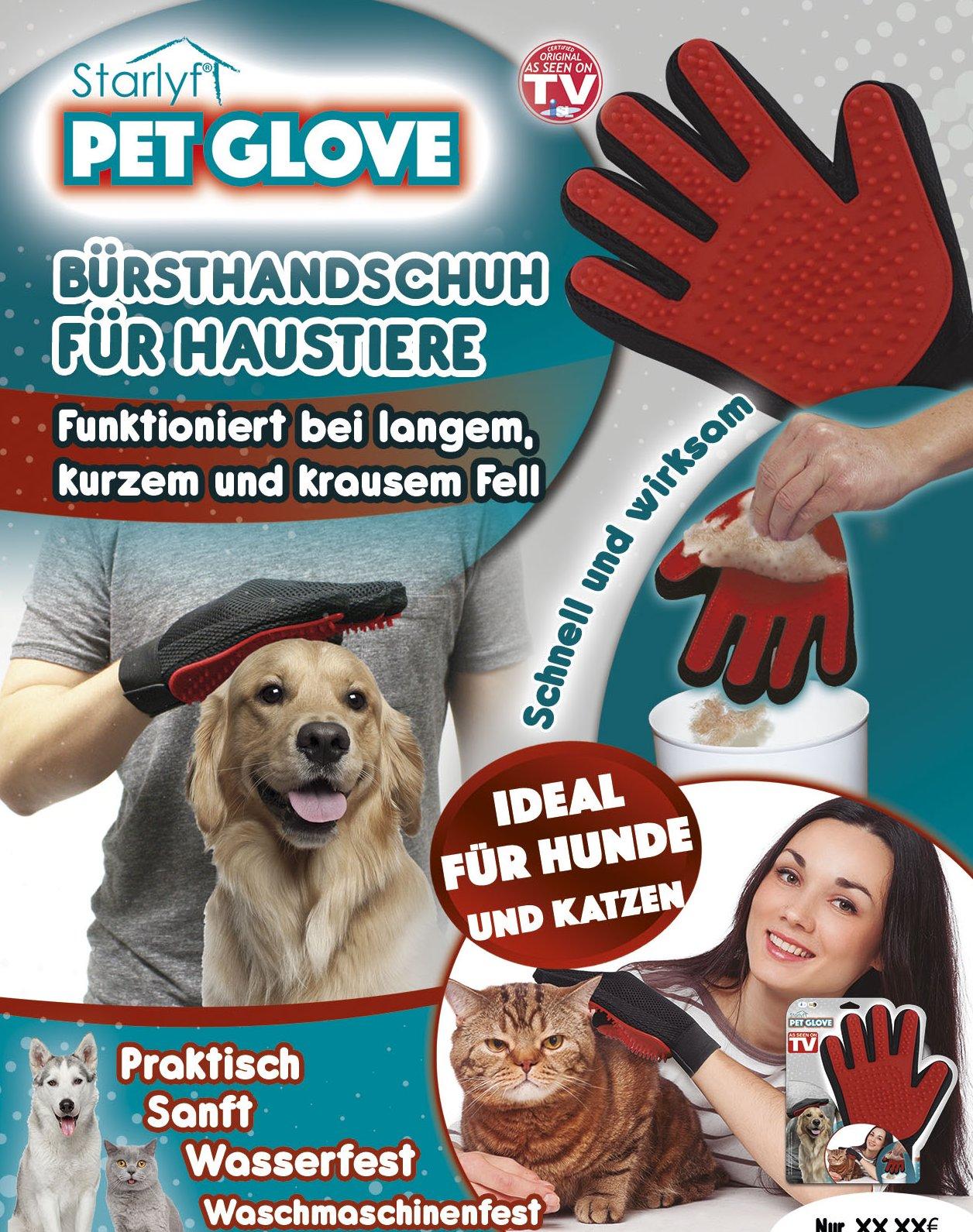 Pet Glove - Der Bürstenhandschuh für Ihr Haustier