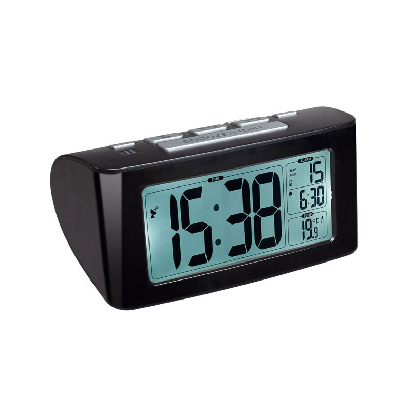 tfa radio controlled alarm clock siesta at selva online. Black Bedroom Furniture Sets. Home Design Ideas