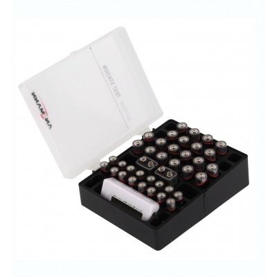 Aufbewahrungsbox für Batterien inkl. Batterie-Tester