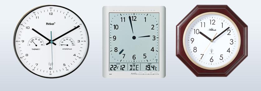 Radio wall clocks